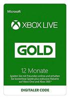 Xbox Live Gold - Mitgliedschaft 12 Monate [Xbox Live Online Code]