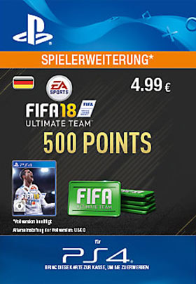 FIFA 18 Ultimate Team 500 Points - PlayStation